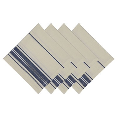 Blue Farm Fresh Stripe Napkin (Set Of 4)- Design Imports