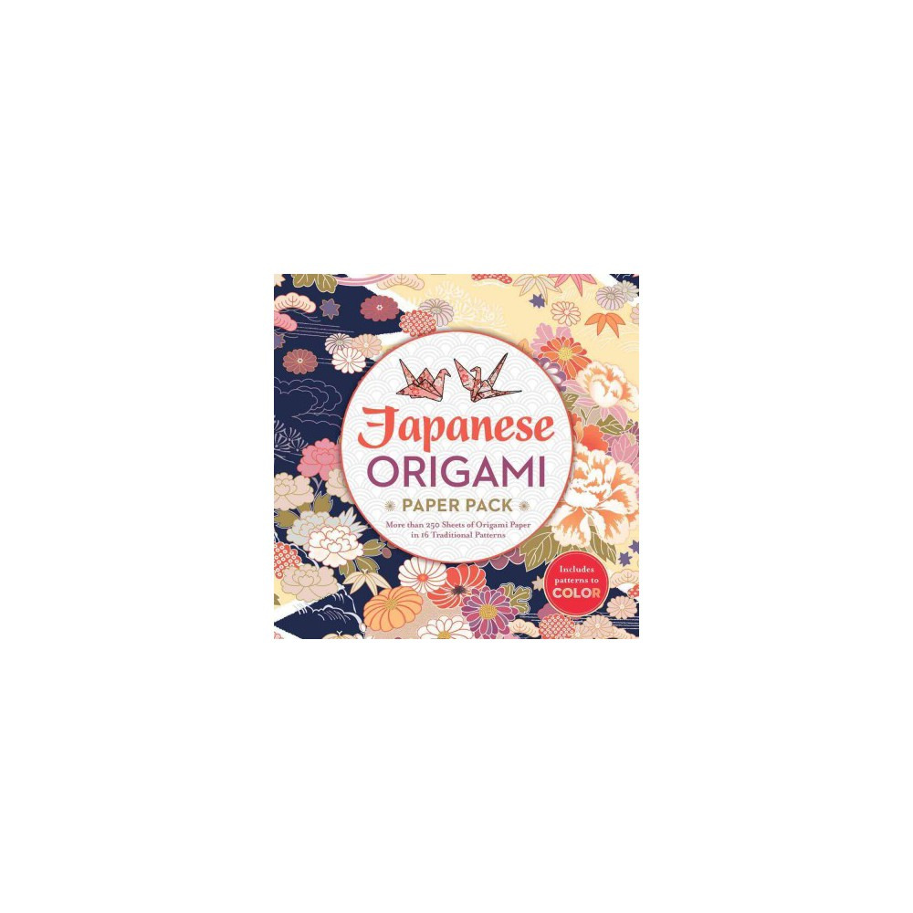 Japanese Origami Paper Pack : More Than 250 Sheets of Origami Paper in 16 Traditional Patterns, Includes