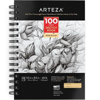 """Arteza Sketchbook, 5.5x8.5"""", 100 Sheets of Drawing Paper (ARTZ-8082)"""