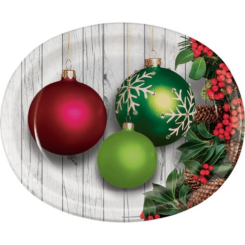 Christmas Ornaments Oval Plates Target