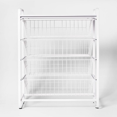 4 Drawer Closet Metal Storage Organizer White - Made By Design™