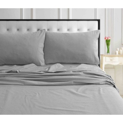 2pk Solid Ultra Soft Flannel Pillowcase Set - Tribeca Living