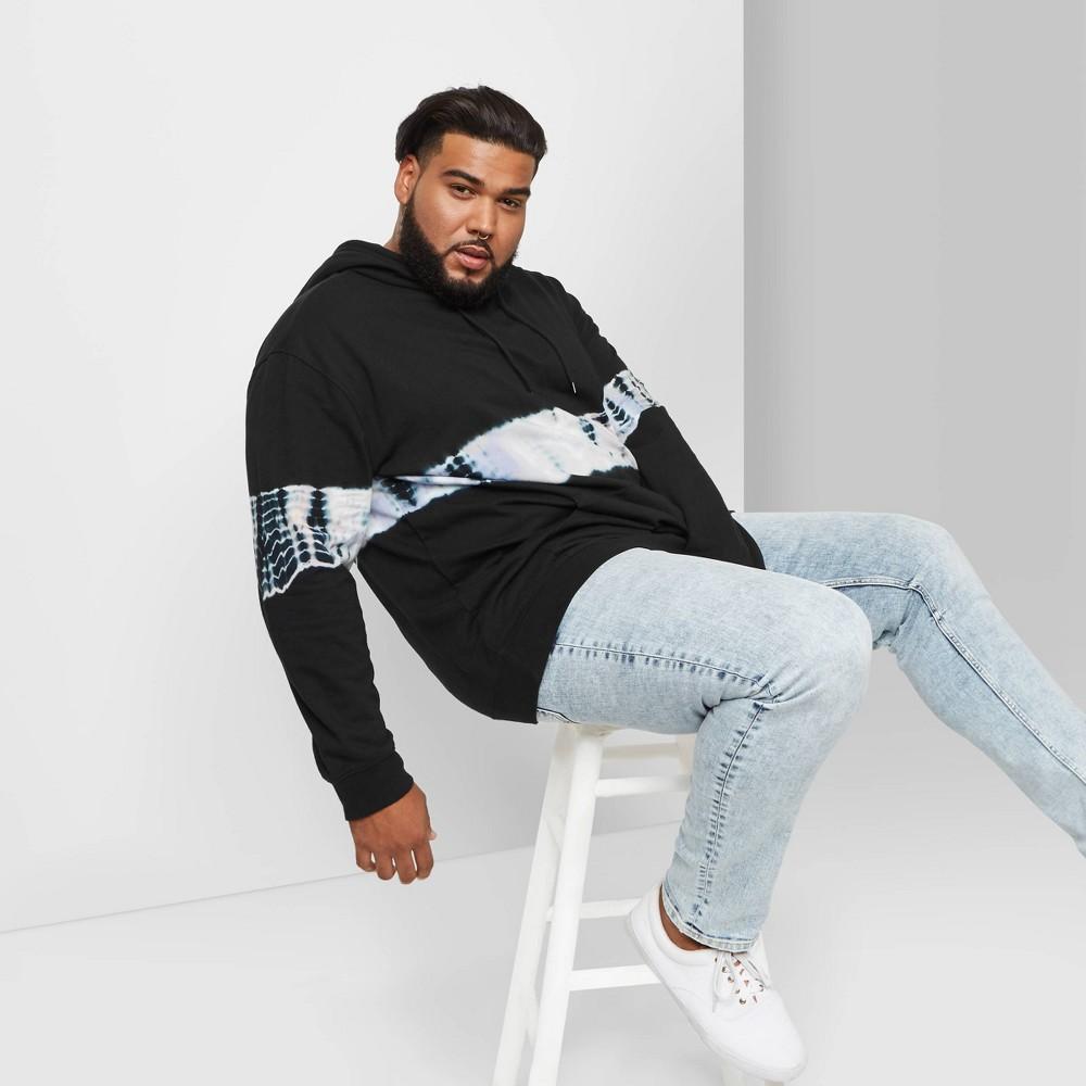 Men 39 S Big 38 Tall Tie Dye Hooded Sweatshirt Original Use 8482 Black 2xbt