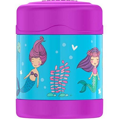 THERMOS FUNTAINER 10 Ounce Stainless Steel Vacuum Insulated Kids Food Jar, Mermaids