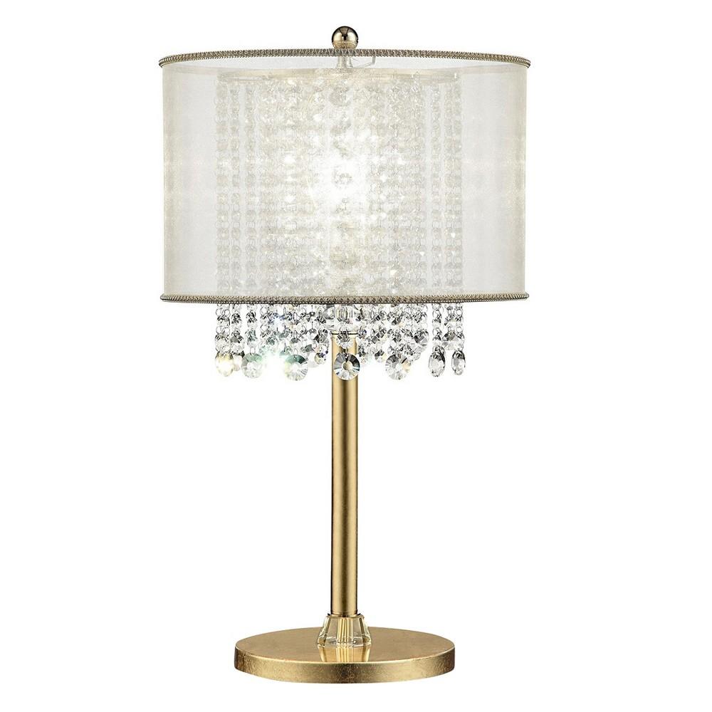 Image of Bhavya Crystal Table Lamp Bronze (Includes Energy Efficient Light Bulb) - Ore International, Golden Bronze