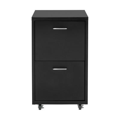 2 Drawer Eastbourne Modern Mobile Metal File Cabinet - Calico Designs