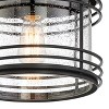 """Possini Euro Design Modern Outdoor Ceiling Light Fixture Black Geometric 11"""" Clear Seedy Glass for Exterior House Porch Patio Deck - image 3 of 4"""
