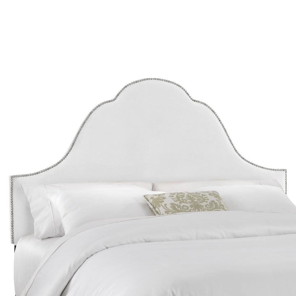 Skyline Furniture Avignon Luxe Velvet Headboard - White (Full/Queen) - Skyline Furniture