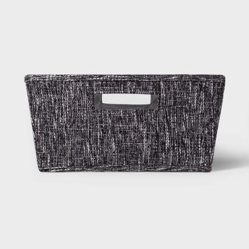Tweed Large Tapered Bin Black - Threshold™ - image 1 of 3