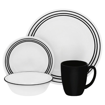 Corelle® Livingware™ 16pc Dinnerware Set Onyx Black