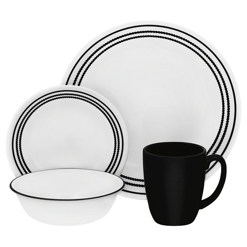 Corelle® Livingware™ 16pc Dinnerware Set Onyx Black - image 1 of 1
