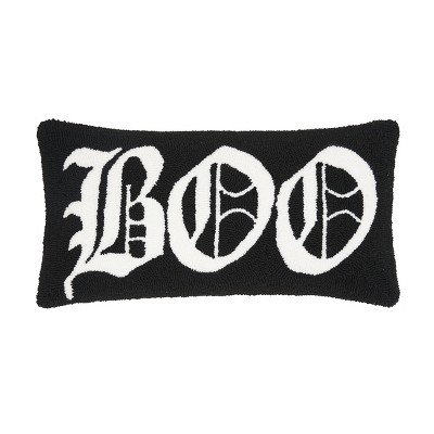 """C&F Home 12"""" x 24"""" Boo Hooked Halloween Pillow"""