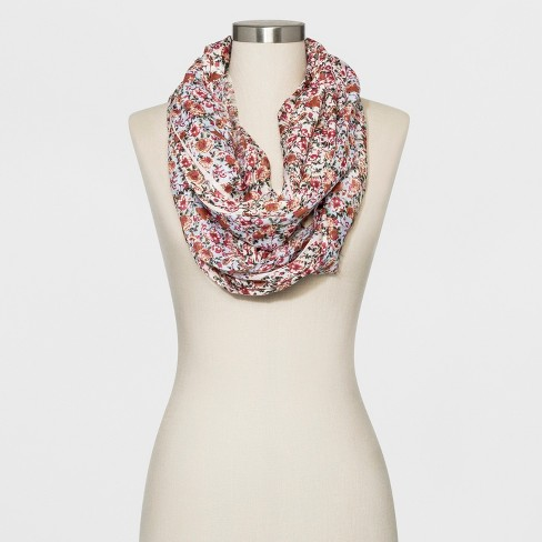 Collection XIIX Women's Floral Print Loop Scarf - image 1 of 2