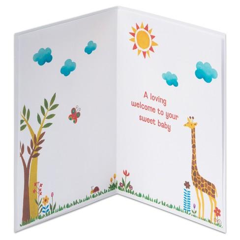 Papyrus Jungle Print New Baby Congratulations Card Target