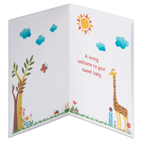 papyrus jungle print new baby congratulations card target