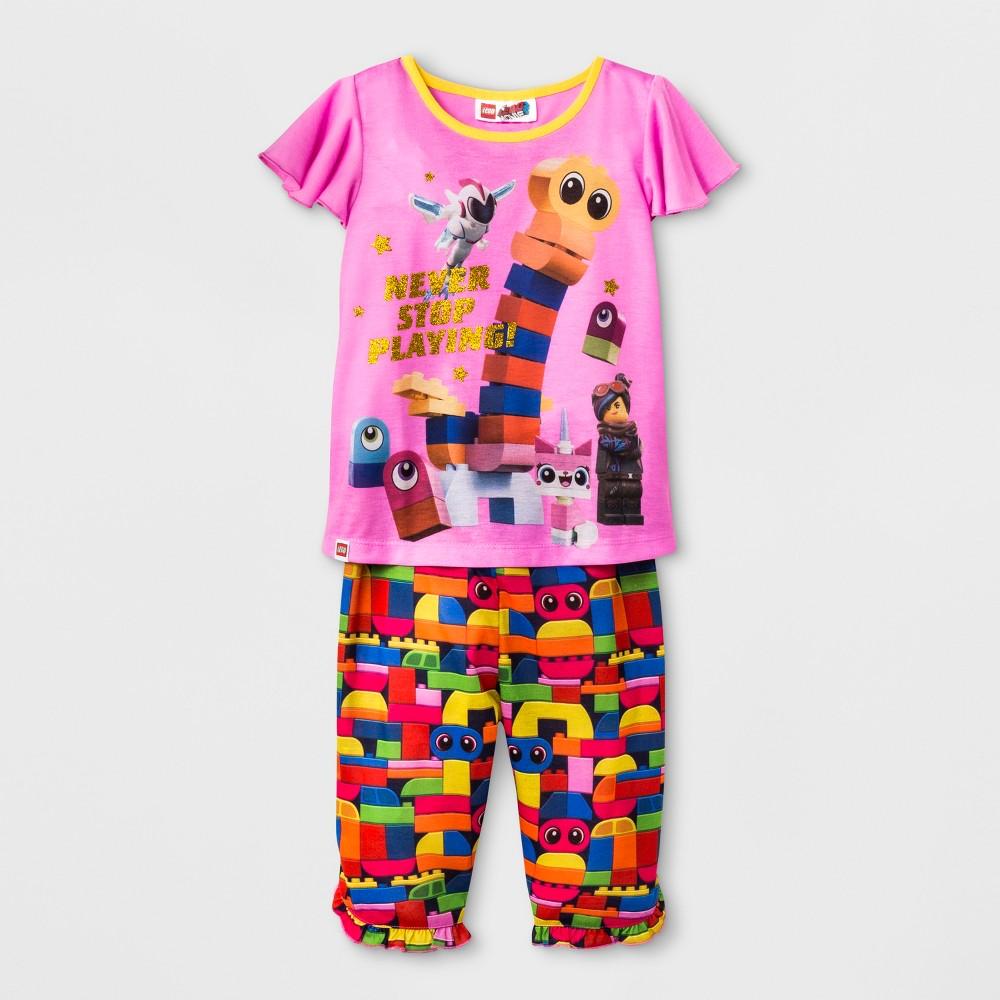 Toddler Girls' Lego Movie 2pc Pajama Set - Pink 2T