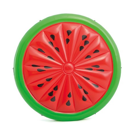 Intex Giant Inflatable 72 Inch Watermelon Island Summer Swimming Pool Float Raft - image 1 of 6