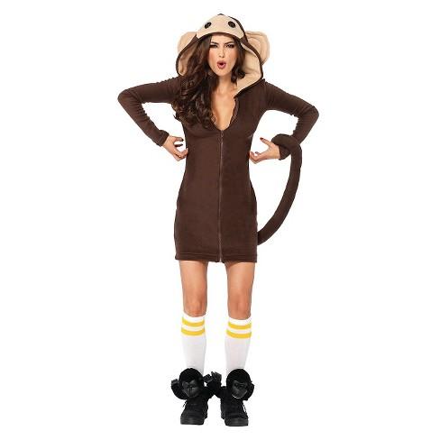 Women's Cozy Monkey Costume - image 1 of 1