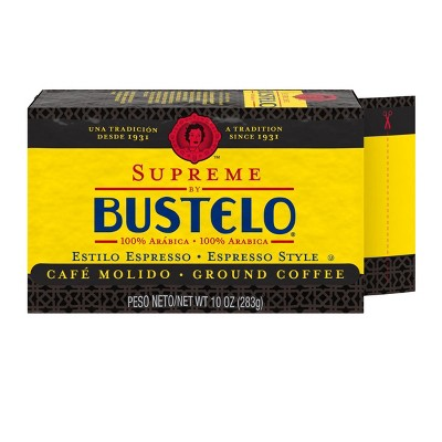 Cafe Bustelo Supreme Espresso Dark Roast Ground Coffee - 10oz