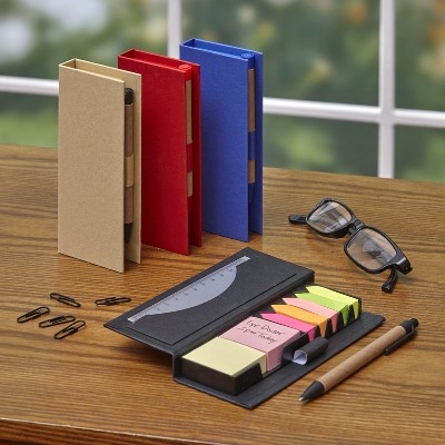 Lakeside Sticky Memo Notebook Organizers with Pens - Set of 4