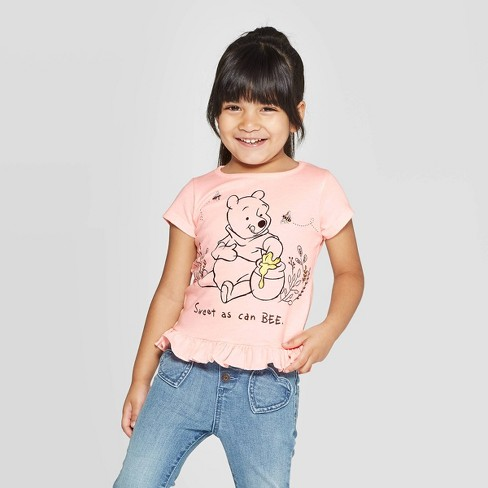 Toddler Girls' Winnie The Pooh Sweet As Can Be Short Sleeve T-Shirt - Pink - image 1 of 3