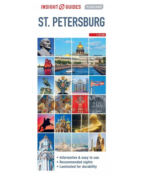 Insight Guides Flexi Map St Petersburg -  (Insight Flexi Maps) (Paperback) - image 1 of 1
