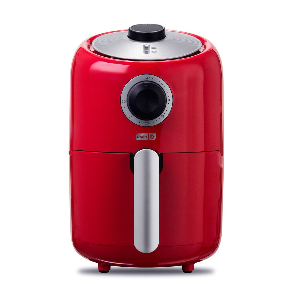 Image of Dash 900W 2qt Single Basket Compact Air Fryer Red