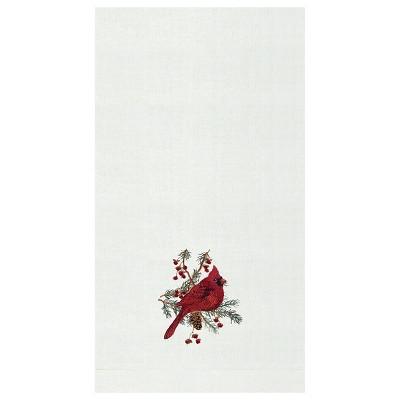 C&F Home Cardinal Hemstitch Decorative Guest Towel