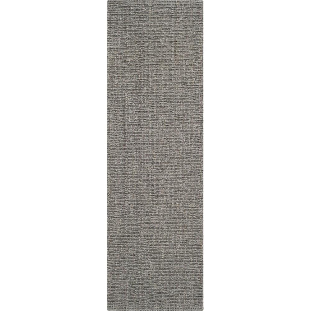 2'6X18' Solid Woven Runner Light Gray - Safavieh