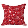 """20""""x20"""" Snow And Stars Throw Pillow Baked Red - Deny Designs - image 2 of 2"""