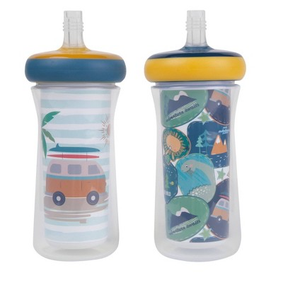 The First Years 2pk Insulated Straw Cups 9oz