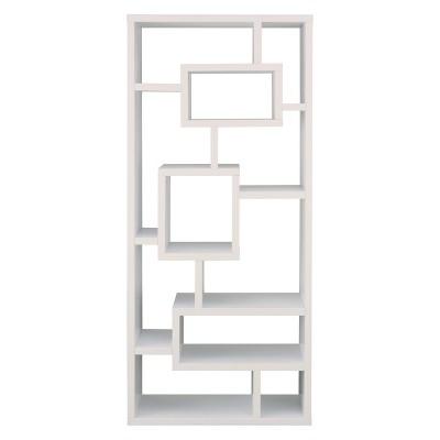 71  Heather 16 Shelf Bookcase Winter White - miBasics