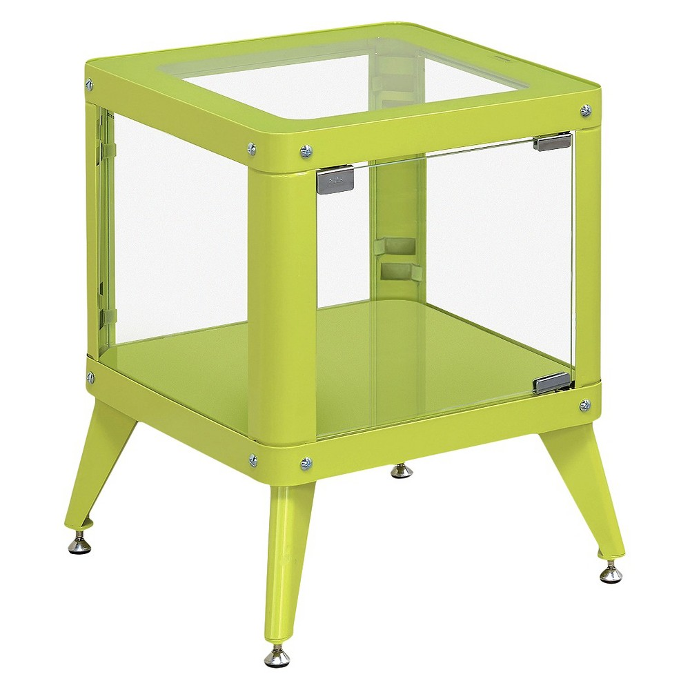 miBasics Clara Modern Vibrant Color Metal End Table - Apple Green