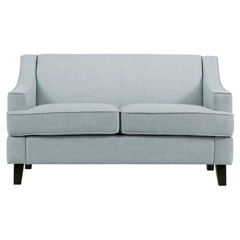 Clifford Swoop Arm Loveseat Hazy Blue - Inspire Q - image 1 of 7