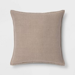 Reversible Linen Throw Pillow with Self Flange - Threshold™