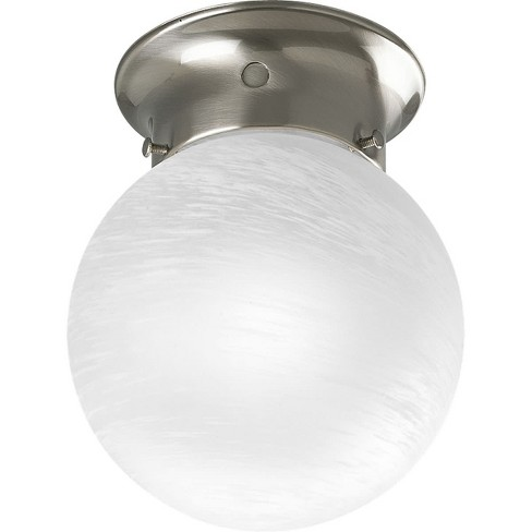"Progress Lighting P3401 Glass Globes Single Light 6"" Wide Flush Mount Ceiling Fixture - image 1 of 2"