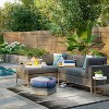 Howell 2pc Left Arm Patio Loveseat & Corner Chaise Lounge Chair Gray - Project 62™ - image 2 of 4