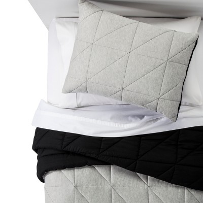 3pc Full/Queen Jersey Comforter Set Gray - Pillowfort™