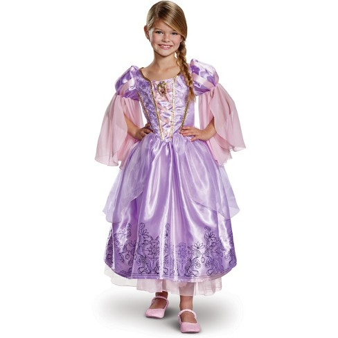 Toddler Girls' Disney Princess Rapunzel Deluxe Exclusive Halloween Costume 3T-4T - image 1 of 2