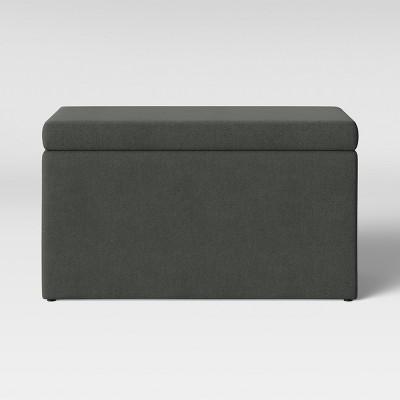 Double Storage Ottoman Gray - Room Essentials™