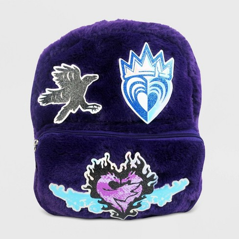 Girls' Descendants Faux Fur Backpack - Purple - image 1 of 4