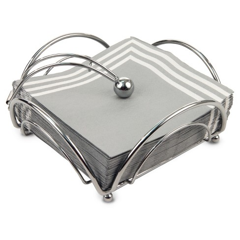 Spectrum Flower Flat Napkin Holder Steel - Chrome - image 1 of 2