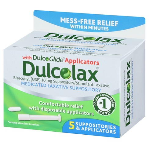dulcolax medicated laxative suppositories 5ct target