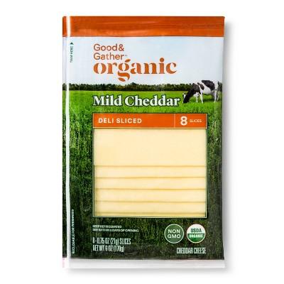 Organic Mild Cheddar Deli Sliced Cheese - 6oz - Good & Gather™