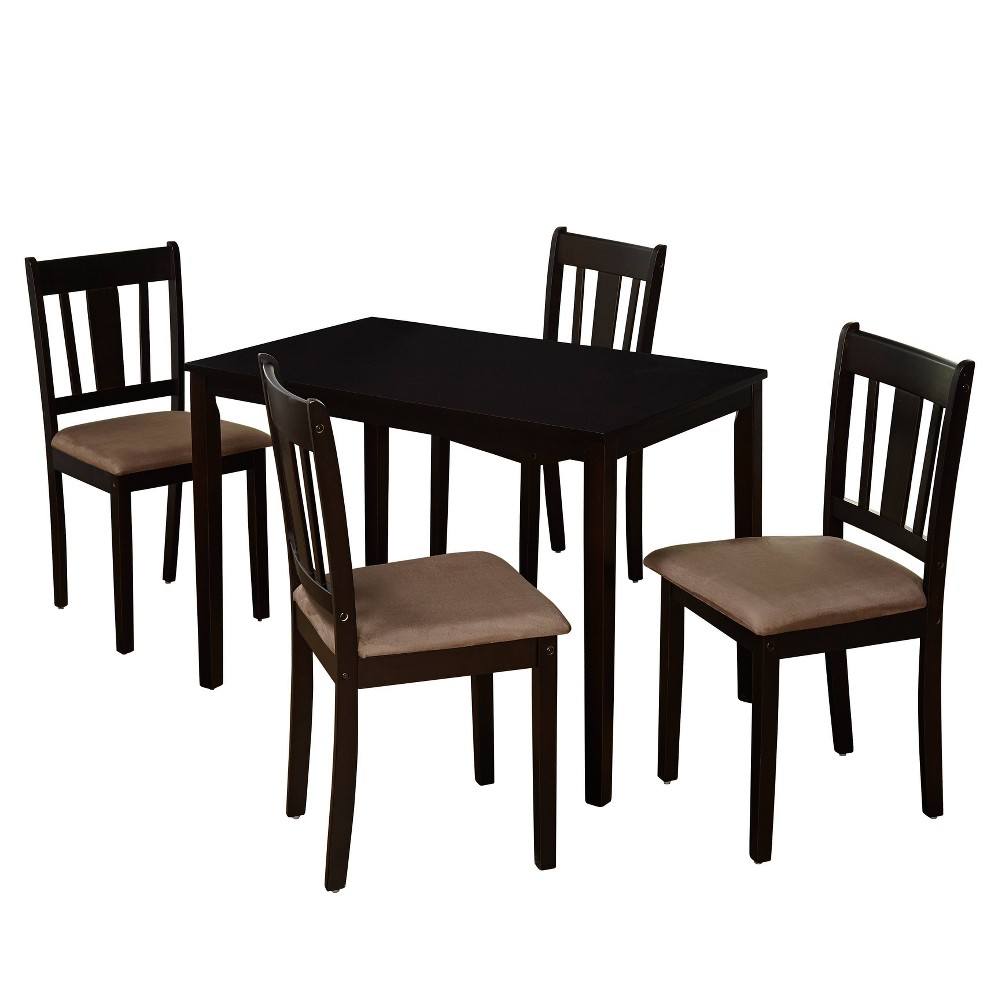 Image of 5pc Stratton Dining Set Espresso Brown - Buylateral