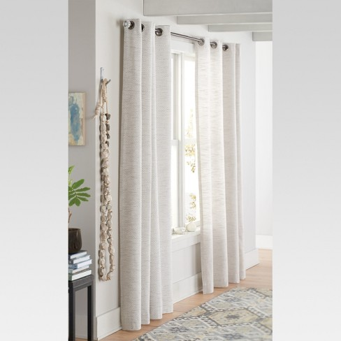 Diamond Weave Window Curtain Panel Radiant Gray 54 X84 Threshold Target