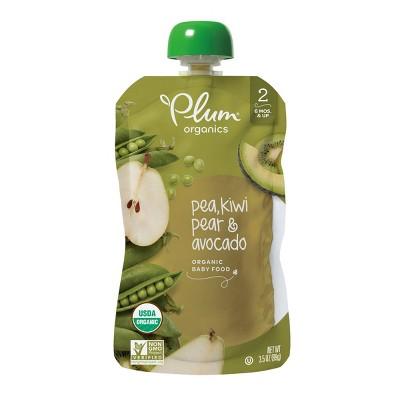 Plum Organics Pea Kiwi Pear & Avocado Baby Food Pouch - 3.5oz