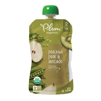 Plum Organics Green: Kiwi, Pea, Pear & Avocado - 3.5oz
