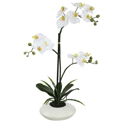 Artificial Orchid Plant (25 )White - Vickerman