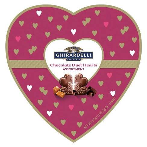 Ghirardelli Valentine's Day Chocolate Duet Hearts Assortment Gift - 5.6oz - image 1 of 1